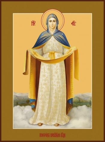 пред иконой Божией Матери «Покров Пресвятой Богородицы»
